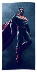 Superman Sketch 1 Beach Towel