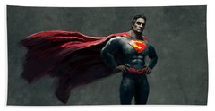 Superman Sketch 2 Beach Towel