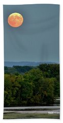 Supermoon On The Mississippi Beach Towel