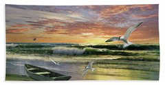 Surf At Sunrise Beach Towel