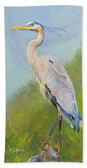 Surveyor - Great Blue Heron Beach Towel