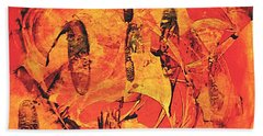 Beach Towel featuring the painting Sweep by 'REA' Gallery