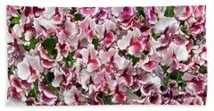 Sweet Pea Lisa Marie Flowers Beach Sheet