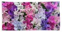 Sweet Pea Spencer Mix Flowers Beach Towel