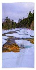 Swift River Winter  Beach Towel