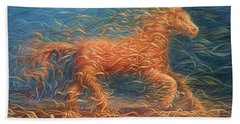 Swirly Horse 1 Beach Towel