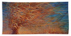 Swirly Tree 2 Beach Towel