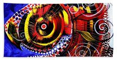 Swollen, Red Cavity Fish Beach Towel