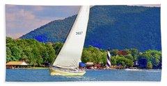 Tacking Lighthouse Sailor, Smith Mountain Lake Beach Sheet