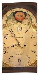 Tall Case Clock Face, Around 1816 Beach Towel