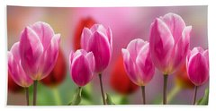 Tall Tulips Beach Towel