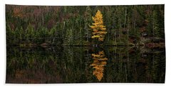 Beach Towel featuring the photograph Tamarack Defiance by Doug Gibbons
