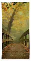 Tanawha Trail Blue Ridge Parkway - Foggy Autumn Beach Towel