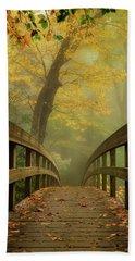 Tanawha Trail Blue Ridge Parkway - Foggy Autumn Beach Towel