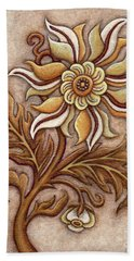 Tapestry Flower 1 Beach Sheet