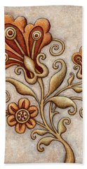 Tapestry Flower 3 Beach Sheet