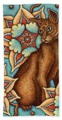 Tapestry Cat Beach Towel