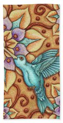 Tapestry Hummingbird Beach Towel