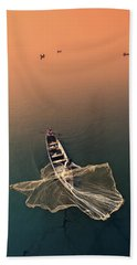 Taungthaman Lake Beach Towel