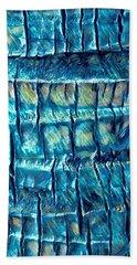 Teal Palm Bark Beach Towel