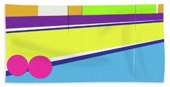 Tennis In Abstraction Beach Towel
