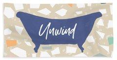 Terrazzo Unwind Bathtub- Art By Linda Woods Beach Towel