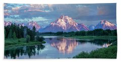 Teton Oxbow Bend  Beach Towel