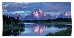 Teton Oxbow Morning 9087 Beach Towel