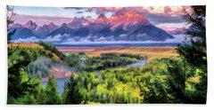 Grand Teton National Park Snake River Beach Towel