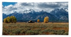 Beach Towel featuring the photograph Tetons And Mormon Row by Scott Read