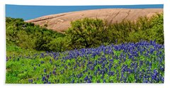 Texas Bluebonnets And Enchanted Rock 2016 Beach Towel