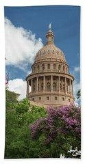 Texas Capital Building Beach Towel