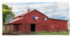 Texas Red Barn Beach Towel