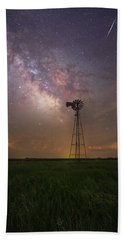 Beach Towel featuring the photograph That's My Kind Of Night  by Aaron J Groen
