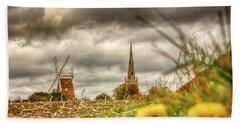 Thaxted Windmill And Church Beach Towel
