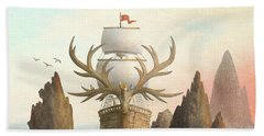 The Antlered Ship Beach Towel