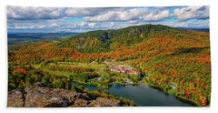 Beach Towel featuring the photograph The Balsams Resort Autumn. by Jeff Sinon