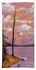 The Bare Tree At Sunset  Beach Towel