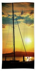 the Boat and the Sky Beach Towel