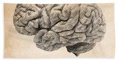 The Brain Is Wider Than The Sky Beach Towel