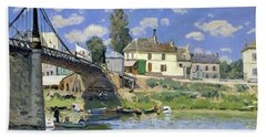 The Bridge At Villeneuve-la-garenne - Digital Remastered Edition Beach Towel