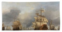 The Capture Of The Royal Prince, 1670 Beach Towel