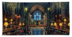 The Cathedral Church Of Saints Asaph And Cyndeym Beach Towel