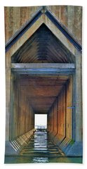 The Cathedral Ore Dock Of Marquette Beach Towel