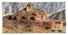 The Colored Bolt Hill At Sunrise Beach Towel