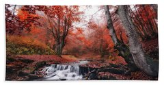 The Delights Of Late Autumn Beach Towel