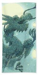 The Dragon Tree - Night Beach Towel