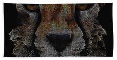 The Face Of A Cheetah Beach Towel