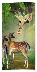 The Fairy Of The Forest Beach Towel