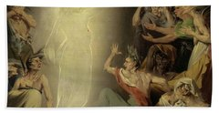 The Ghost Of Clytemnestra Awakening The Furies, 1781 Beach Towel